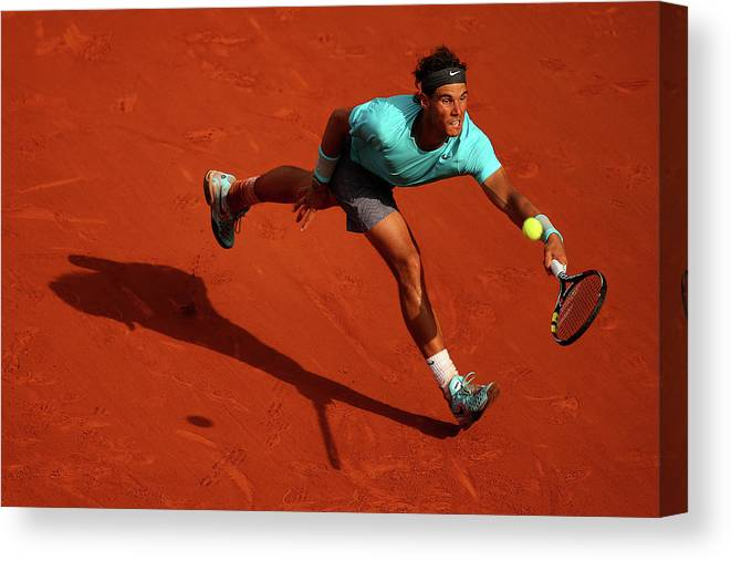 Tennis Canvas Print featuring the photograph 2014 French Open - Day Fifteen by Clive Brunskill