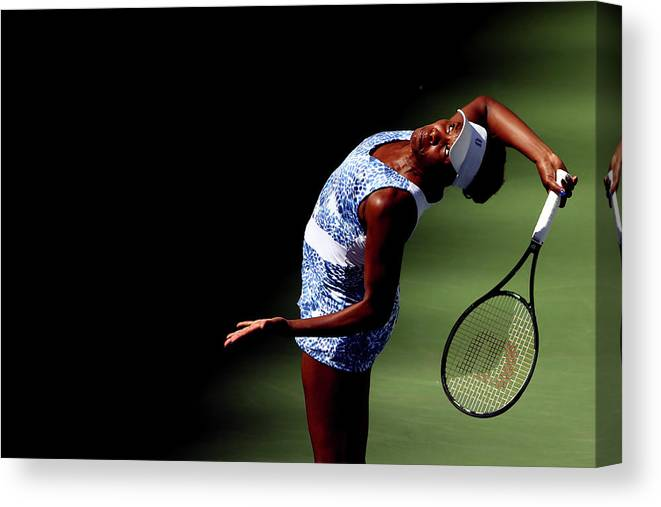 Tennis Canvas Print featuring the photograph 2015 U.s. Open - Day 7 by Clive Brunskill