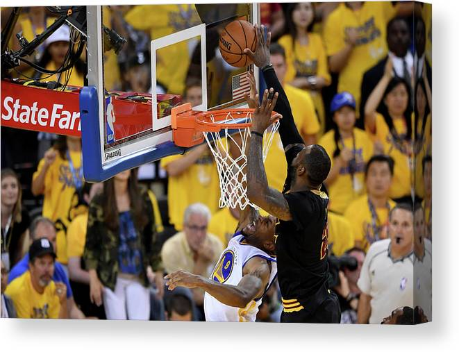 Playoffs Canvas Print featuring the photograph 2016 Nba Finals - Game Seven by Thearon W. Henderson