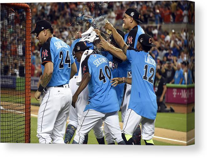 American League Baseball Canvas Print featuring the photograph 2017 T-Mobile Home Run Derby by LG Patterson