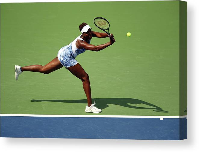 Monica Puig Canvas Print featuring the photograph 2015 U.s. Open - Day 1 by Clive Brunskill