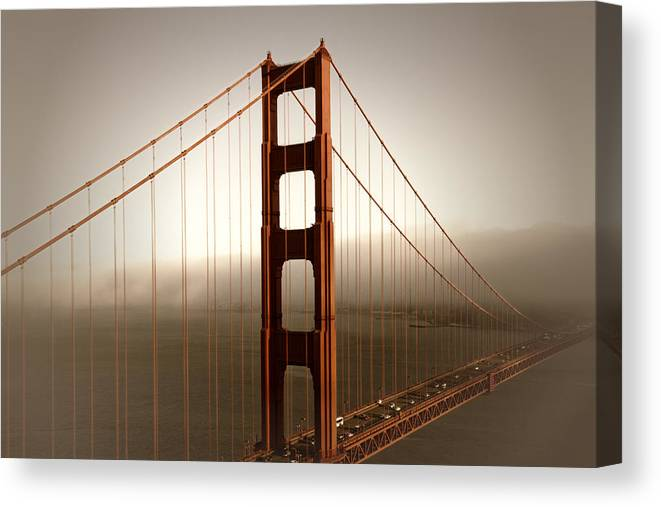 America Canvas Print featuring the photograph Lovely Golden Gate Bridge by Melanie Viola