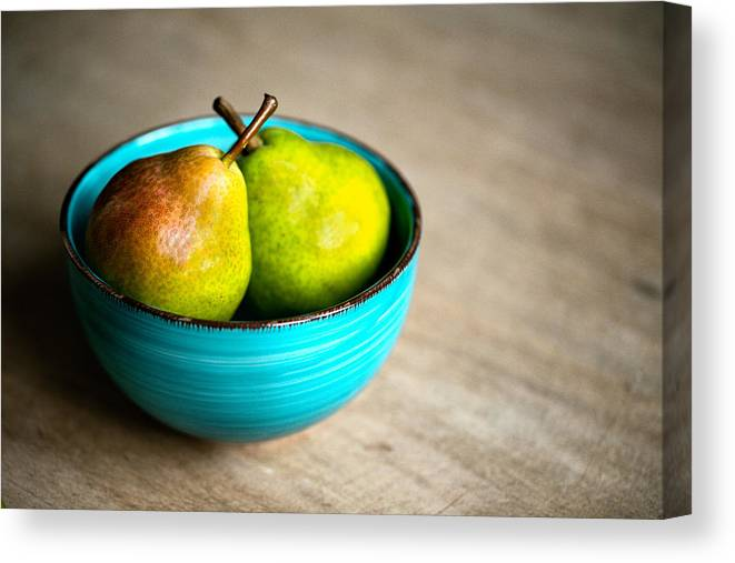 Pear Canvas Print featuring the photograph Pears by Nailia Schwarz