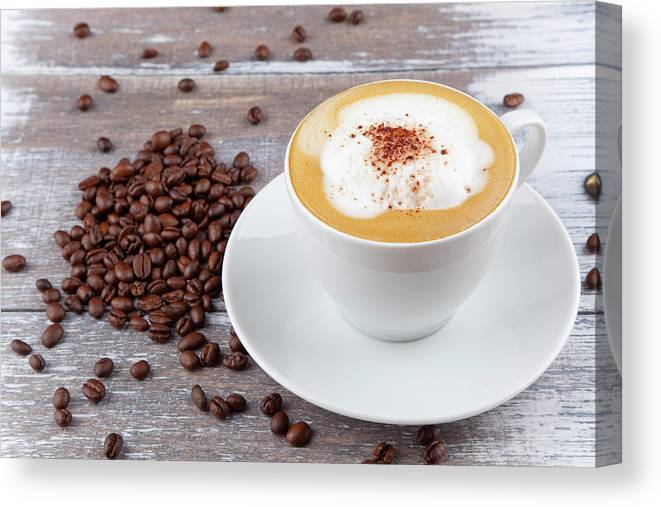 Cappuccino Canvas Print featuring the photograph Coffee by Focusstock