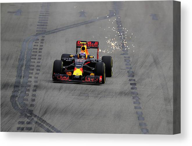 Formula One Grand Prix Canvas Print featuring the photograph F1 Grand Prix of Singapore - Qualifying by Clive Mason