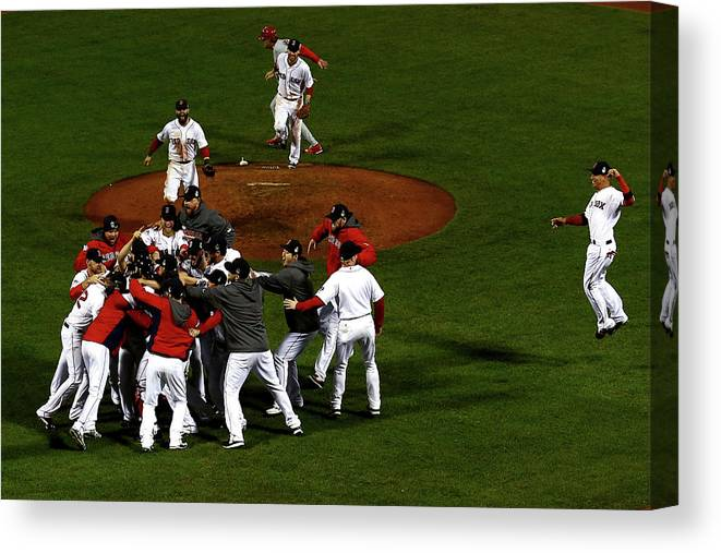St. Louis Cardinals Canvas Print featuring the photograph World Series - St Louis Cardinals V by Jamie Squire