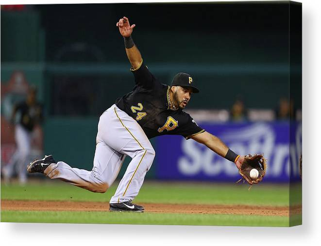 Ball Canvas Print featuring the photograph Pittsburgh Pirates V St. Louis Cardinals by Dilip Vishwanat