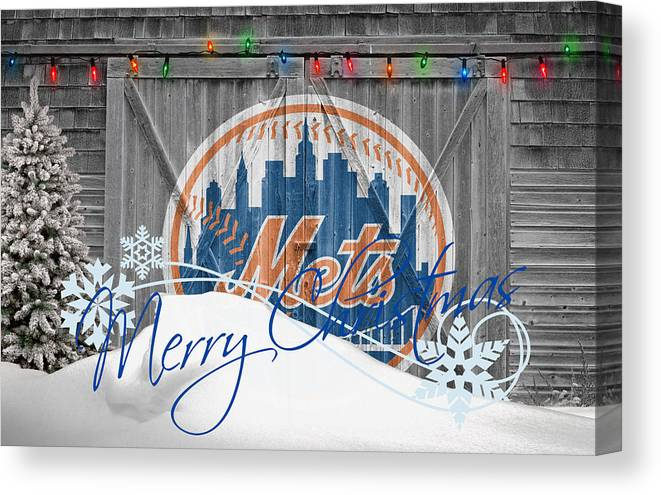 Mets Canvas Print featuring the photograph New York Mets by Joe Hamilton