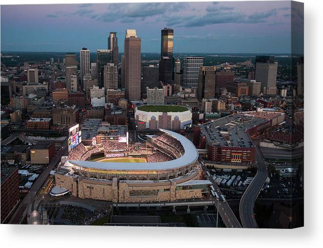 All Star Game Canvas Print featuring the photograph 85th Mlb All-star Game Aerials by Steven Bergerson