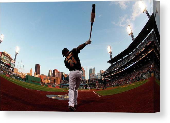 Professional Sport Canvas Print featuring the photograph St Louis Cardinals V Pittsburgh Pirates by Justin K. Aller