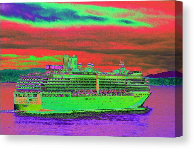 Holland America Canvas Print featuring the photograph A More Colorful HAL by Richard Henne