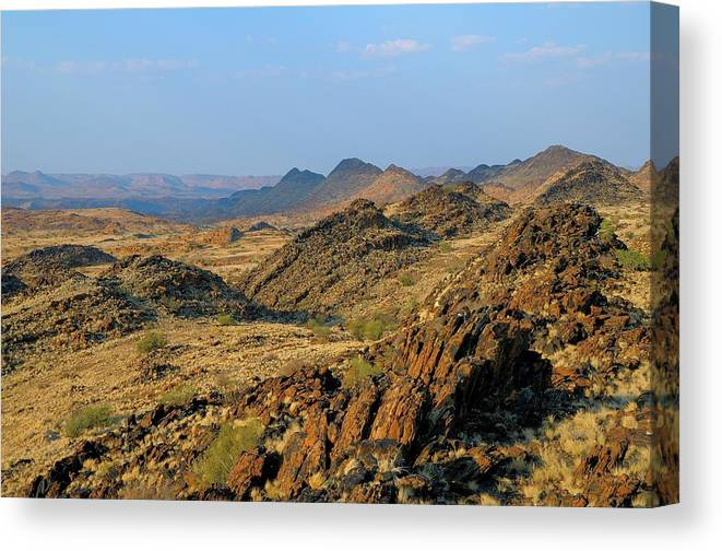 Scenics Canvas Print featuring the photograph African Scenery by Vittorio Ricci - Italy