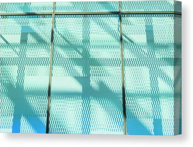 Berlin Canvas Print featuring the photograph Architectural Detail Of Modern Shopping by Ingo Jezierski