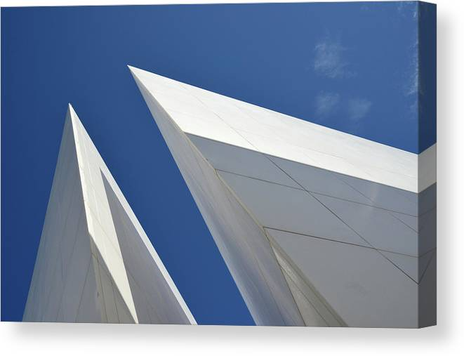 Tranquility Canvas Print featuring the photograph Architectural Details by Martial Colomb