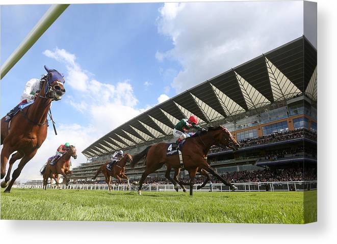 Ascot Racecourse Canvas Print featuring the photograph Ascot Races by Charlie Crowhurst
