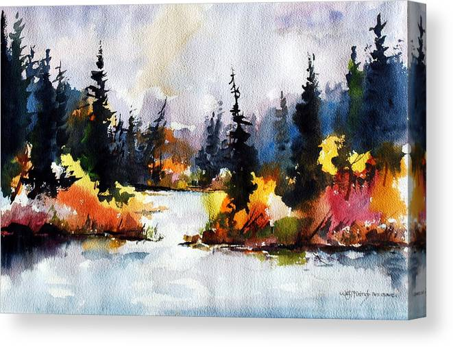 Mother Nature Provides A World Of Leafy Colour Canvas Print featuring the painting Autumn Attitude by Wilfred McOstrich