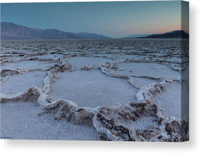 Tranquility Canvas Print featuring the photograph Badwater Salt Flats by Henryk Welle