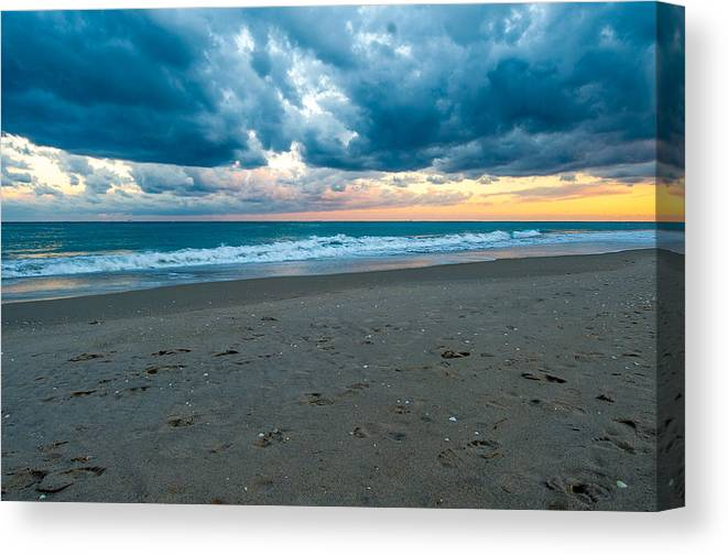 Clouds Canvas Print featuring the photograph Beach Clouds by Paul Johnson