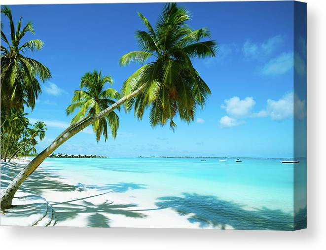 Water's Edge Canvas Print featuring the photograph Beautiful Beach Resort by Phototalk