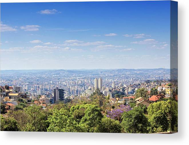 Tranquility Canvas Print featuring the photograph Belo Horizonte by Antonello