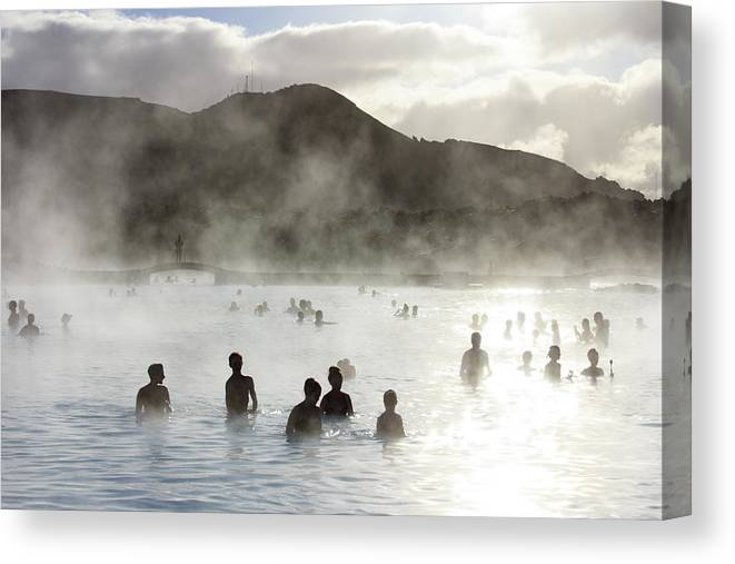Spa Canvas Print featuring the photograph Blue Lagoon Geothermal Spa by Thomas Janisch