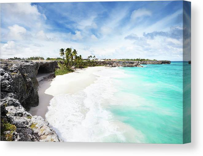 Scenics Canvas Print featuring the photograph Bottom Bay, Barbados by Tomml