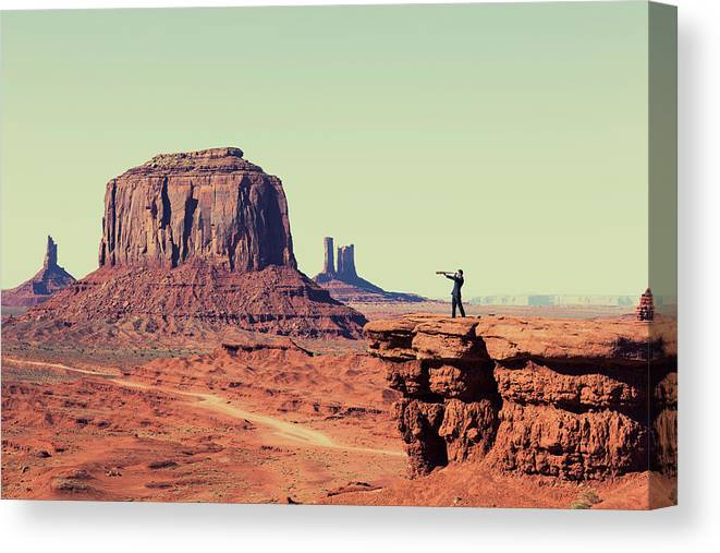 Corporate Business Canvas Print featuring the photograph Business Vision by Richvintage