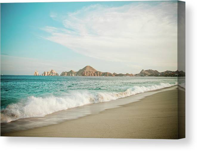 Water's Edge Canvas Print featuring the photograph Cabos San Lucas by Christopher Kimmel