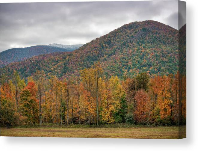 Scenics Canvas Print featuring the photograph Cades Cove, Great Smoky Mountains by Fotomonkee