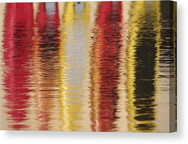 Canoe Canvas Print featuring the photograph Canoe Reflections by Dr Carolyn Reinhart