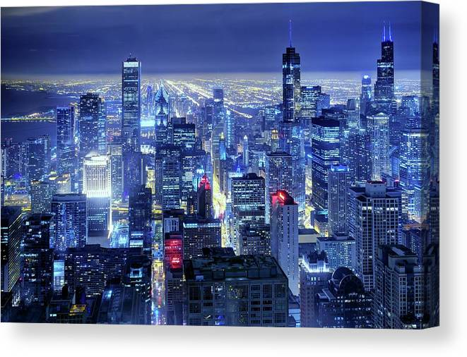 Tranquility Canvas Print featuring the photograph Chicago by Thomas Kurmeier