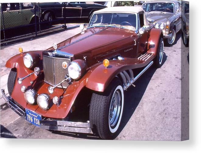 Autos; Clenet; Cars; Still Lifes. Canvas Print featuring the photograph Clenet on Rolls Royce Row by Robert Rodvik