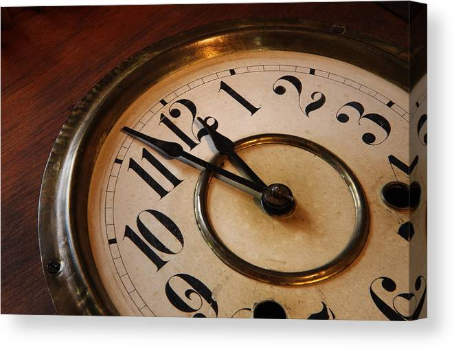 Very Canvas Print featuring the photograph Clock face by Johan Swanepoel