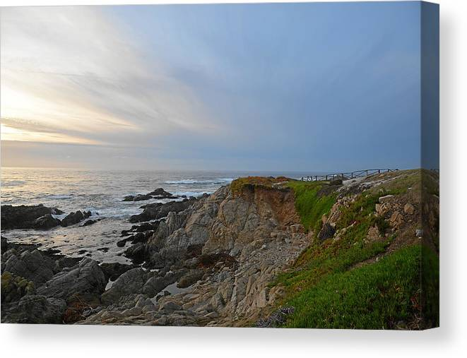 Monterey Canvas Print featuring the photograph Coast of Monterey Bay by Keith Gondron