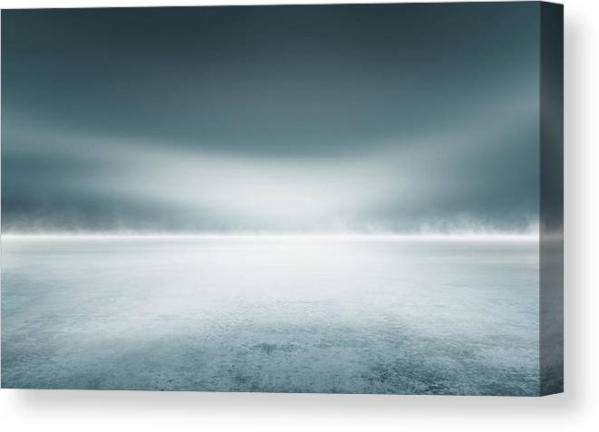 Tranquility Canvas Print featuring the digital art Cold Studio Background by Aaron Foster