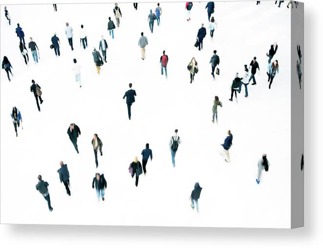 Working Canvas Print featuring the photograph Commuters by Ferrantraite