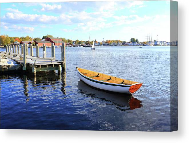 Steps Canvas Print featuring the photograph Connecticut Mystic Seaport by Shunyufan
