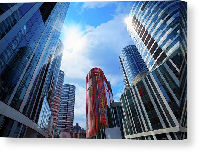 Chinese Culture Canvas Print featuring the photograph Contemporary Building by Ithinksky