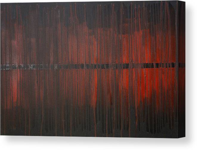 Fantasy Canvas Print featuring the painting Cross the Line by Sergey Bezhinets