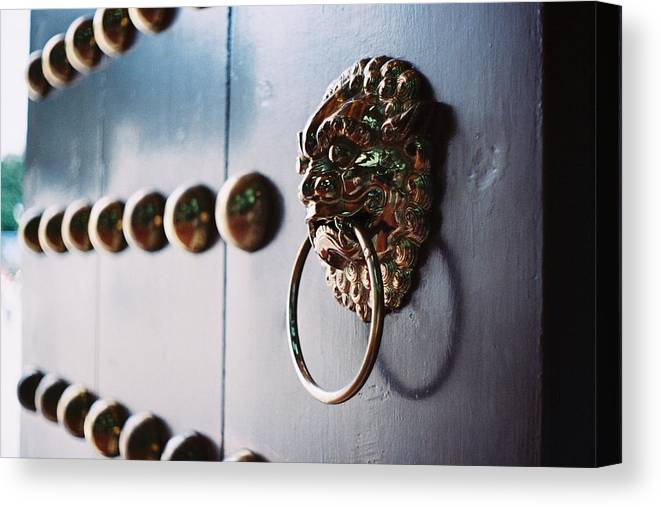 Taiwan Canvas Print featuring the photograph Door Ring by Photography By Bert.design