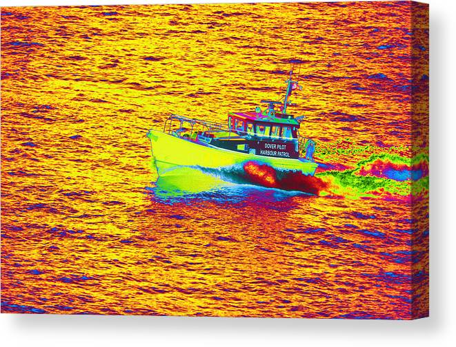Dover Canvas Print featuring the photograph Dover Pilot Psychedelicized by Richard Henne