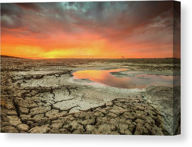Tranquility Canvas Print featuring the photograph Droughts Bane by Aaron Meyers