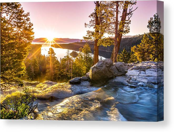 California Canvas Print featuring the photograph Eagle Falls Emerald Bay Lake Tahoe Sunrise First Light by Scott McGuire