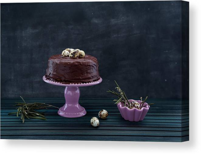 Easter Canvas Print featuring the photograph Easter Eggs by Flavia Morlachetti