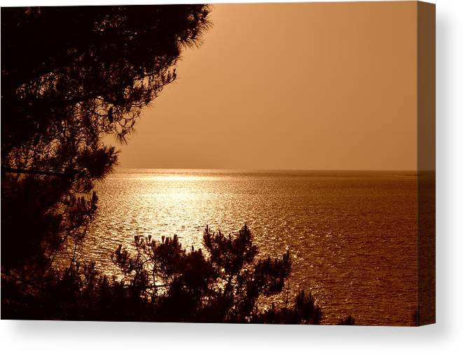 Sunset Canvas Print featuring the photograph Evening Glow by Bishopston Fine Art