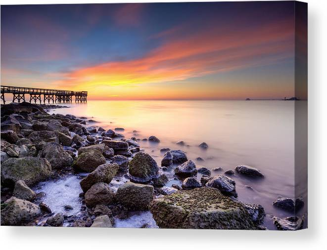 Dawn Canvas Print featuring the photograph everytime I wake by dKi-photography