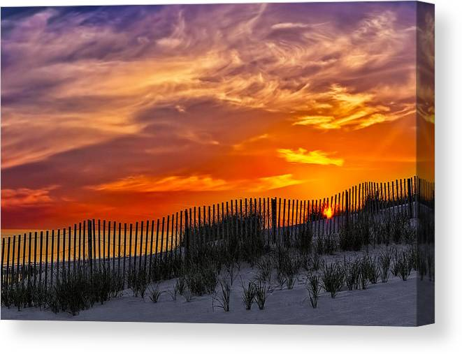 Cape Canvas Print featuring the photograph First Light At Cape Cod Beach by Susan Candelario