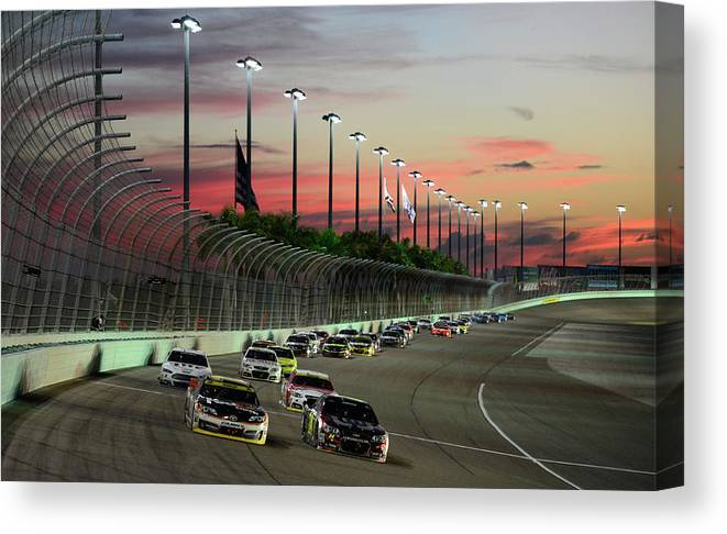 Sport Canvas Print featuring the photograph Ford Ecoboost 400 by Robert Laberge