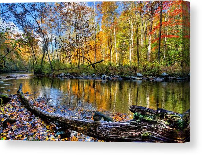 Appalachia Canvas Print featuring the photograph Full Box of Crayons by Debra and Dave Vanderlaan