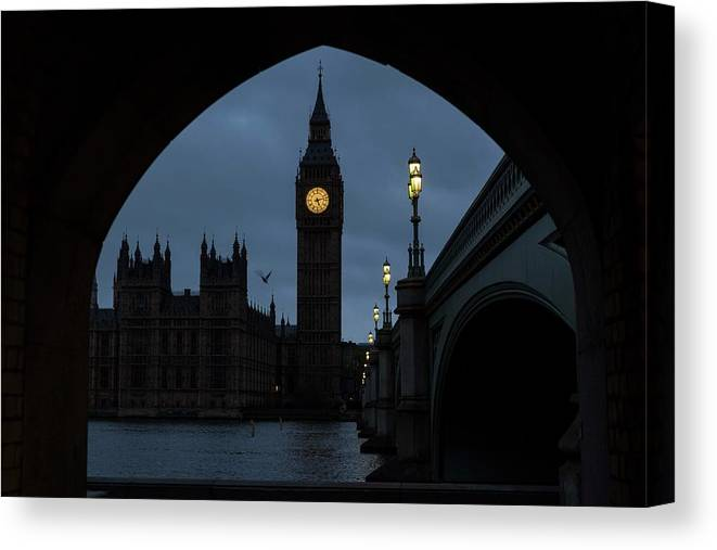 Time Canvas Print featuring the photograph General Election 2015 Week Six by Rob Stothard
